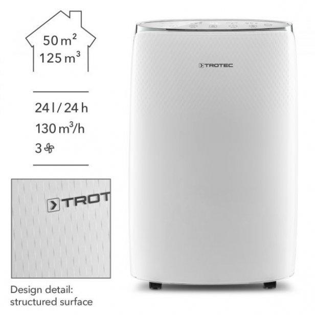 Páramentesítő 50 m2-ig - gyönyörű, digitális, energiatakarékos - német márka Trotec TTK 67 E