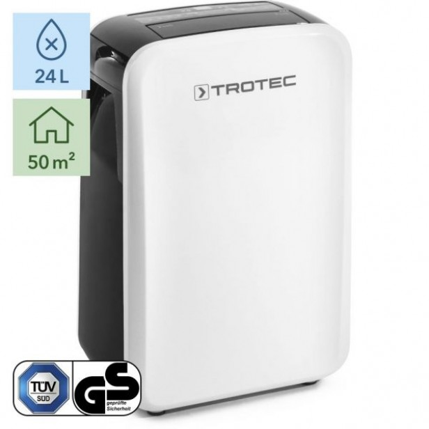 Trotec TTK 71 E - Párátlanító penész megelőzésére max. 24l/nap,  50 m2-ig, digitális, modern design - német márka