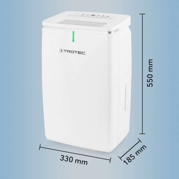 Trotec TTK 72 E - Páramentesítő penész megelőzésére- max. 24 l/nap, 50 m2-ig, modern, csendes, LED  - német márka