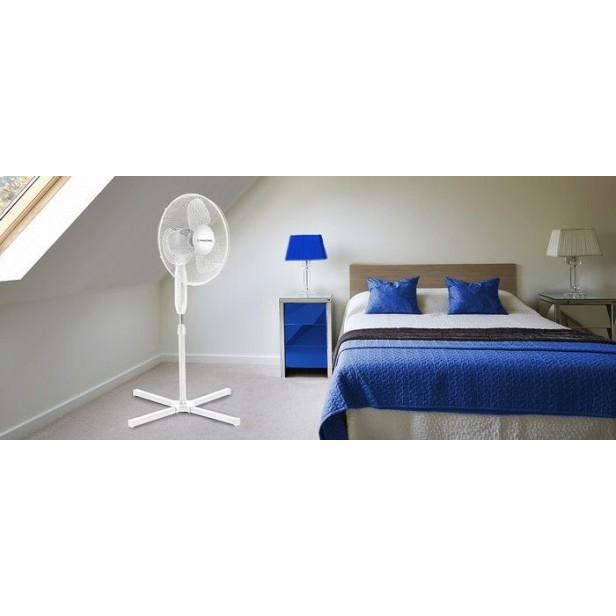 Trotec TVE 15 S, Álló ventilátor, 40 Watt, függőlegesen állítható, , 80° oszcilláció, 30° lejtésszögig állítható