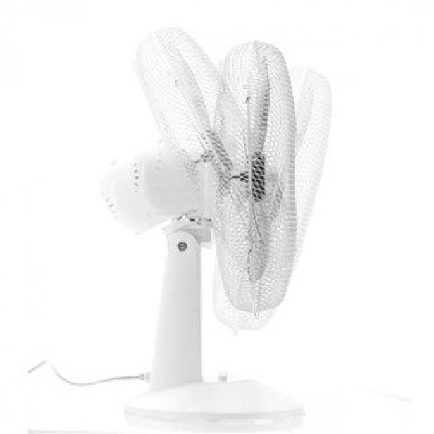 Trotec TVE 15 Asztali ventilátor, 40 W teljesítmény, 100 fokos oszcillációval, 30 fokos lejtésszögig állítható