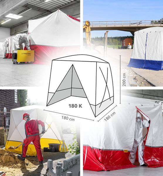 Trotec - 180 KLapos tetős munkasátor