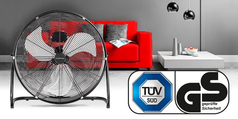 Padlóventilátor -Trotec TVM 24 D tanúsítvánnyal